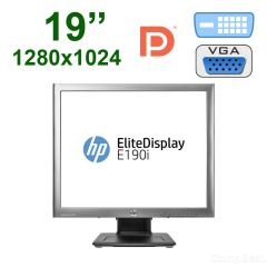 "Монітор HP E190i / 19"" /  1280x1024 IPS / 2x USB 2.0, USB B, VGA, DVI-D, Display Port"