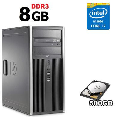HP 8100 Tower / Intel Core i7-860 (4(8) ядра по 2.8-3.46GHz) / 8GB DDR3 / 500GB HDD