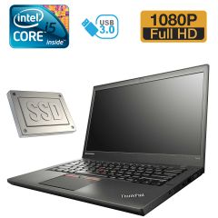 "Lenovo ThinkPad T450s / 14"" (1920х1080) / Intel Core i5-5300U (2(4)ядра по 2.3 - 2.9GHz) / 8GB DDR3 / 128GB SSD /  WebCam"