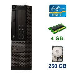 Dell OptiPlex 7010 SFF / Intel Core i3-2120 (2 (4) ядра по 3.3 GHz) / 4 GB DDR3 / 250 GB HDD / nVidia GeForce GT 1030, 2 GB GDDR5, 64-bit