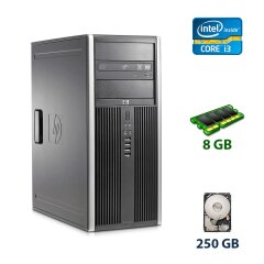 HP Compaq Elite 8100 Tower / Intel Core i3-540 (2 (4) ядра по 3.06 GHz) / 8 GB DDR3 / 250 GB HDD