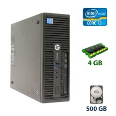 Комп'ютер HP ProDesk 400 G2.5 SFF / Intel Core i3-4130 (2 (4) ядра по 3.4 GHz) / 4 GB DDR3 / 500 GB HDD