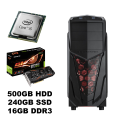 Новый Xigmatek Tower / Intel Core i5-4570 (4 (4) ядра по 3.20-3.60 GHz) / 500GB HDD + Новый 240GB SSD / 16GB DDR3/ USB 3.0, Новый БП 600W Chieftec/ Видеокарта GF GTX 1070 8Gb DDR5 256bit (HDMI,DVI,DP)
