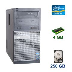 Dell OptiPlex 3010 Tower / Intel Core i3-2120 (2 (4) ядра по 3.3 GHz) / 4 GB DDR3 / 250 GB HDD / nVidia GeForce GT 1030, 2 GB GDDR5, 64-bit