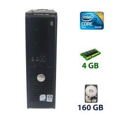 Dell OptiPlex 755 DT / Intel Core 2 Duo E8400 (2 ядра по 3.0 GHz) / 4 GB DDR2 / 160 GB HDD