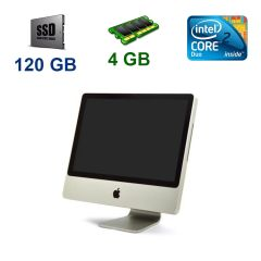 "Apple A1224 iMac 7.1 / 20"" 1680х1050 LCD / Intel Core 2 Duo T7700 (2 ядра по 2.4 GHz) / 4 GB DDR2 / 120 GB SSD / ATI Radeon HD2600 Pro 256 MB / Mac OS X El / WebCam"