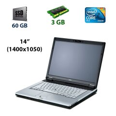 "Fujitsu LifeBook S7110 / 14"" (1400x1050) TN CCFL / Intel Core Duo T2400 (2 ядра по 1.83 GHz) / 3 GB DDR2 / 60 GB SSD / DVD-RW / Com Port (IEEE 1394)"