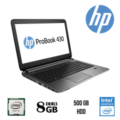 "Ноутбук HP ProBook 430 G2 / 13.3"" / Intel® Core™ i5-5200U (2 (4) ядра по 2,20 - 2,70 GHz) / 8 Gb DDR 3 / 500 GB HDD / Intel HD Graphics 5500 / веб камера"