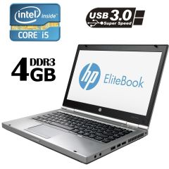 "HP EliteBook 8470p / 14"" / 1366х768 LED / Intel® Core™ i5-3210M (2 (4) ядра по 2.50 - 3.10 GHz) / 4GB DDR3 / 320GB HDD / Intel HD Graphics 4000 / VGA, DP, USB 3.0/ WebCam 720p"