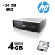 HP 6000 SFF / Intel Core 2 Quad Q6600 (4 ядра по 2.4GHz) / 4 GB DDR3 / Новый 120 GB SSD