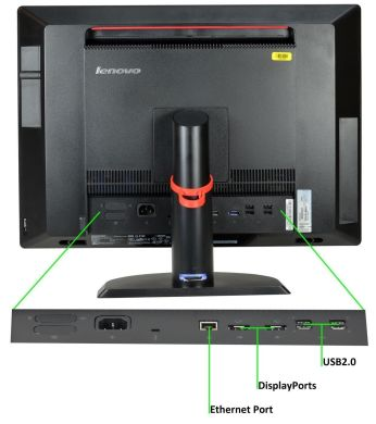 Моноблок Lenovo ThinkCentre M92z AIO / Intel Core i3-2120 (2(4) ядра по 3.3GHz) / 4GB DDR3 / 500GB HDD / 23 дюйма, FullHD, IPS / USB 3.0+Windows 7 Home Premium COA