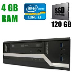 Acer Veriton X2631G DT / Intel Сore i3-4130 (2(4)ядра по 3.40GHz)/ 4GB DDR3 / new! 120GB SSD / VGA, DP, USB 3.0