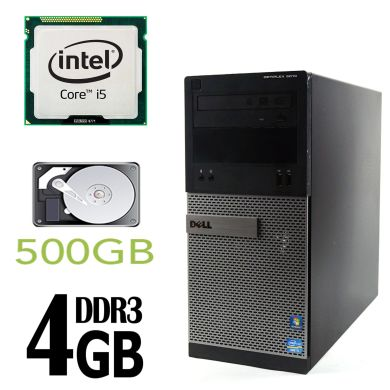 DELL 3010 Tower / Intel Core i5-3470 (4 ядра по 3.2GHz) / 4GB DDR3 / 500GB HDD