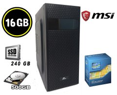 MSI MiniTower / Intel Core i5-3470 (4 ядра по 3.20 - 3.60 GHz) / 16 GB DDR3 (4х4GB) /240 GB SSD+500 GB HDD / 400W / USB 3.0