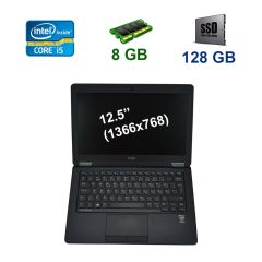 "Dell Latitude E7250 / 12.5"" (1366x768) LED / Intel Core i5-5300U (2 (4) ядра по 2.3 - 2.9 GHz) / 8 GB DDR3 / 128 GB SSD / WebCam / USB 3.0 / HDMI"