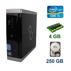 Fujitsu Esprimo Q900 Mini PC / Intel Core i5-2520M (2 (4) ядра по 2.5 - 3.2 GHz) / 4 GB DDR3 / 250 GB HDD / USB 3.0