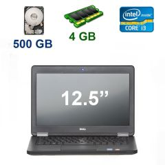 "Dell Latitude E5250 / 12.5"" (1366x768) / Intel Core i3-5010U (2 (4) ядра по 2.10 GHz) / 4 GB DDR3 / 500 GB HDD / Webcam"