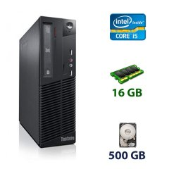 Lenovo ThinkCentre M73 SFF / Intel Core i5-4570 (4 ядра по 3.2 - 3.6 GHz) / 16 GB DDR3 / 500 GB HDD