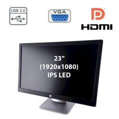 "Монітор Б клас - HP EliteDisplay E232 / 23"" (1920x1080) IPS LED / HDMI, DP, VGA, USB-Hub"