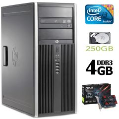 HP 6200 Tower / Intel Core i3-2100 (3.10 ГГц, 2 ядра, 4 потока) / 4GB DDR3 / 250GB HDD / new! GeForce GT 730 1Gb GDDR3 (HDMI, DVI, VGA)