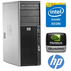 HP Workstation z400 / Intel Xeon X5650 (6 (12) ядер по 2.66 - 3.06 GHz) / 12 GB DDR3 / 500 GB HDD / nVidia Quadro 600 1024MB GDDR3 (128bit)