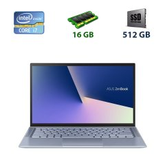 "Asus Zenbook ux431fn / 14"" (1920x1080) IPS / Intel Core i7-8565u (4 (8) ядер по 1.8 - 4.6 GHz) / 16 GB DDR3 / 512 GB SSD / nVidia GeForce MX150, 2 GB GDDR5, 64-bit / WebCam / USB 3.0 / HDMI"