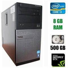Dell Optiplex 390 Tower / Intel Core i3-2120 (2 (4) ядра по 3.3 GHz) / 8 GB DDR3 / 500 GB HDD / nVidia GeForce GTX 1050, 2 GB GDDR5, 128-bit