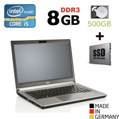 "Fujitsu LifeBook E743 / 14"" (1600x900) / Intel® Core™ i5-3230M (2 (4) ядра по 2.60 - 3.20 GHz) / 8GB DDR3 / 500 GB HDD + 120GB SSD / VGA, DP, USB 3.0, WebCam"
