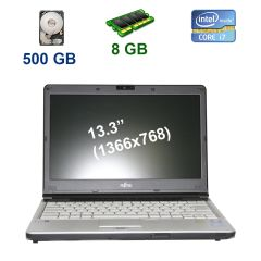 "Fujitsu LifeBook S761 / 13.3"" (1366x768) WXGA LED / Intel Core i7-2620M (2 (4) ядра по 2.7 - 3.4 GHz) / 8 GB DDR3 / 500 GB HDD / WebCam / DVD-RW / USB 3.0"
