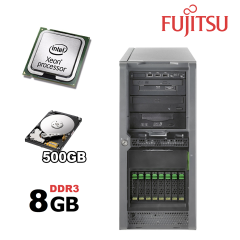 Сервер Fujitsu PRIMERGY TX150 S7/ Intel Xeon X3430 (4(4) ядра по 2,4 - 2,8 GHz) / 8 GB DDR3/ 500 GB HDD/ Chipset Intel® 3420 ( 6 слотов под память ) / NAS хранилище