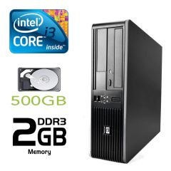 Hewlett-Packard 5800 SFF / Intel Core i3-2120 (2(4) ядра по 3.3GHz) / 2GB DDR3 / 500GB HDD / no optical drive