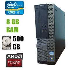 Dell 3010 SFF / Intel Core i3-3220 (2(4)ядра по 3.30GHz) / 8 GB DDR3 / 500 GB HDD / AMD Radeon HD7470 1GB