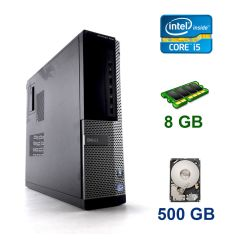 Dell Optiplex 7010 DT / Intel Core i5-3470 (4 ядра по 3.2 - 3.6 GHz) / 8 GB DDR3 / 500 GB HDD / AMD Radeon HD 8490, 1 GB DDR3, 64-bit