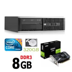 HP 6300 Ellite SFF / Intel Core i3-2100 (2(4) ядра по 3.1GHz) / 8GB DDR3 / 320GB HDD / GeForce GT 1030 2GB