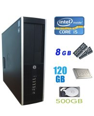 HP Compaq 6300 Pro SFF / Intel Core i5-2400 (4 ядра по 3.1-3.4GHz) / 8 GB DDR3 / 120 GB SSD NEW+500 GB HDD / USB 3.0