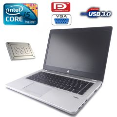 "HP EliteBook Folio 9470m / 14.1"" / Intel Core i5-3427U (2(4) ядра по 1.8-2.8GHz) / 8GB DDR3 / 180GB SSD"