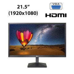 "Новый монитор LG 22MN430M-B / 21.5"" (1920x1080) IPS LED / 2x HDMI, VGA, Audio Port"