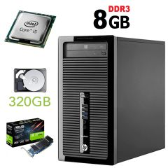 HP 400 G1 MT / Intel Core i5-4570 (4 ядра по 3.2GHz) / 8GB DDR3 / 320GB HDD / nVidia GeForce GT 1030 2GB GDDR5