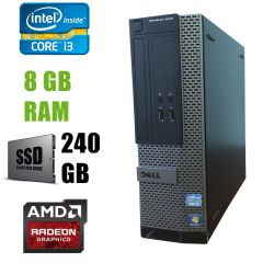 Dell 3010 SFF / Intel Core i3-3220 (2(4)ядра по 3.30GHz) / 8 GB DDR3 / new! 240 GB SSD / AMD Radeon HD 7470 1GB GDDR3 64bit