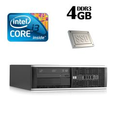 HP 6300 Ellite SFF / Intel Core i3-2100 (2(4) ядра по 3.1GHz) / 4GB DDR3 / 60GB SSD