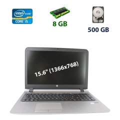 "HP ProBook 450 / 15.6"" (1366x768) LED / Intel Core i5-3230M (2 (4) ядра по 2.6 - 3.2 GHz) / 8 GB DDR3 / 500 GB HDD / WebCam / USB 3.0 / Fingerprint"