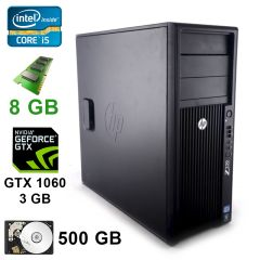 HP WorkStation Z220 MT / Intel® Core™ i5-3470 (4 ядра по 3.60 GHz) / 8 GB DDR3 / 500 GB / GeForce GTX1060 3 GB DDR5 192 bit / DVI, DP, HDMI