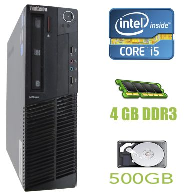 Lenovo Think Centre M91p SFF / Intel Core i5-2400 (4 ядра по 3.1-3.4GHz) / 4 GB DDR3 / 500 GB HDD / DVD-RW