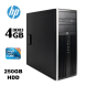 HP 6200 Tower / Intel Сore i3-2100 ( 2 ядра (4 потока) по 3,10 GHz, 3mb Cache) / 4GB DDR3/ 250 HDD