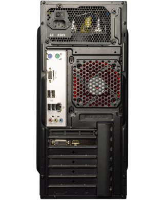 GameMax MT508 Tower / AMD Ryzen™ 5 1400 (4 (8) ядра по 3.2 - 3.4 GHz) / 8 GB DDR4 / 1000 GB HDD / nVidia GeForce GTX 1050 (2 GB GDDR5 128 bit) / 500 W