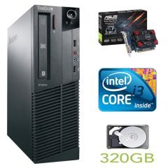 Lenovo m82 SFF / Intel Core i3-2100 (2(4) ядра по 3.1GHz) / 4GB DDR3 / 250GB HDD / new GeForce GT 730 1Gb GDDR3 (HDMI, DVI, VGA) / USB 3.0