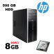 HP 6200 Tower / Intel Core i5-2400 (4 ядра (4 потока) по 3.1-3.4GHz) / 8 GB DDR3 / 500 GB HDD