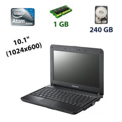 "Samsung NB30 Plus / 10.1"" (1024x600) WSVGA LED / Intel Atom N450 (1 (2) ядра 1.66 GHz) / 1 GB DDR2 / 240 GB HDD / WebCam"