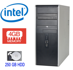 Hewlett-Packard DC7800 Tower / Intel  Core2Duo E6550 (2 ядра по 2.33 GHz) / 4GB DDR2 / 250GB HDD