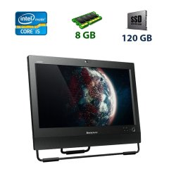 "Lenovo ThinkCentre M92z / 20"" (1600x900) TN / Intel Core i5-2500 (4 ядра по 3.3 - 3.7 GHz) / 8 GB DDR3 / 120 GB SSD / WebCam / Intel HD Graphics 2000"